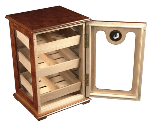 150 ct CIGAR HUMIDOR - RED WOOD COUNTER TOP SHOW CASE DISPLAY