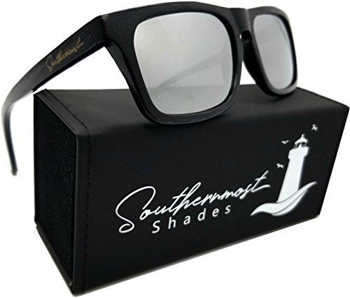 glasses -100% Polarized Lenses- Wooden Frame for Men & Women (Black Bamboo - Silver Mirror Lenses) (Wood Lens)