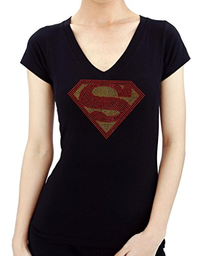 SUPERMAN HANDMADE Rhinestone T-Shirts for $<!--$26.99-->