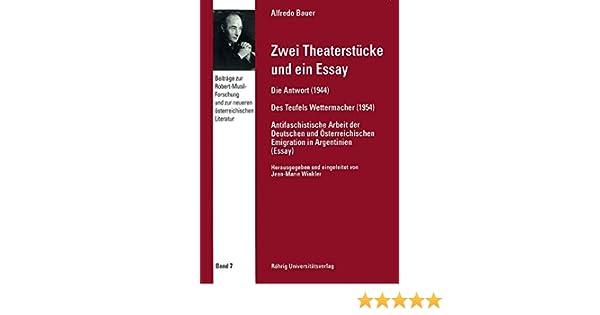 Zwei Theaterstücke und ein Essay (Beiträge zur Robert-Musil ...