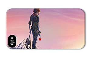 Hipster girly iPhone 4S cases soldier girl poppies sunset PC 3D for Apple iPhone 4/4S
