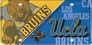 NCAA UCLA Bruins Metal License Plate Tag