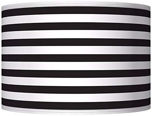 Black Horizontal Stripe Giclee Shade 12x12x8.5 (Spider) - Giclee Glow