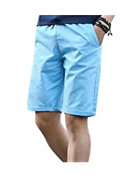 COMVIP Men's Drawstring Casual Slim Fit Beach Cargo Shorts Pants