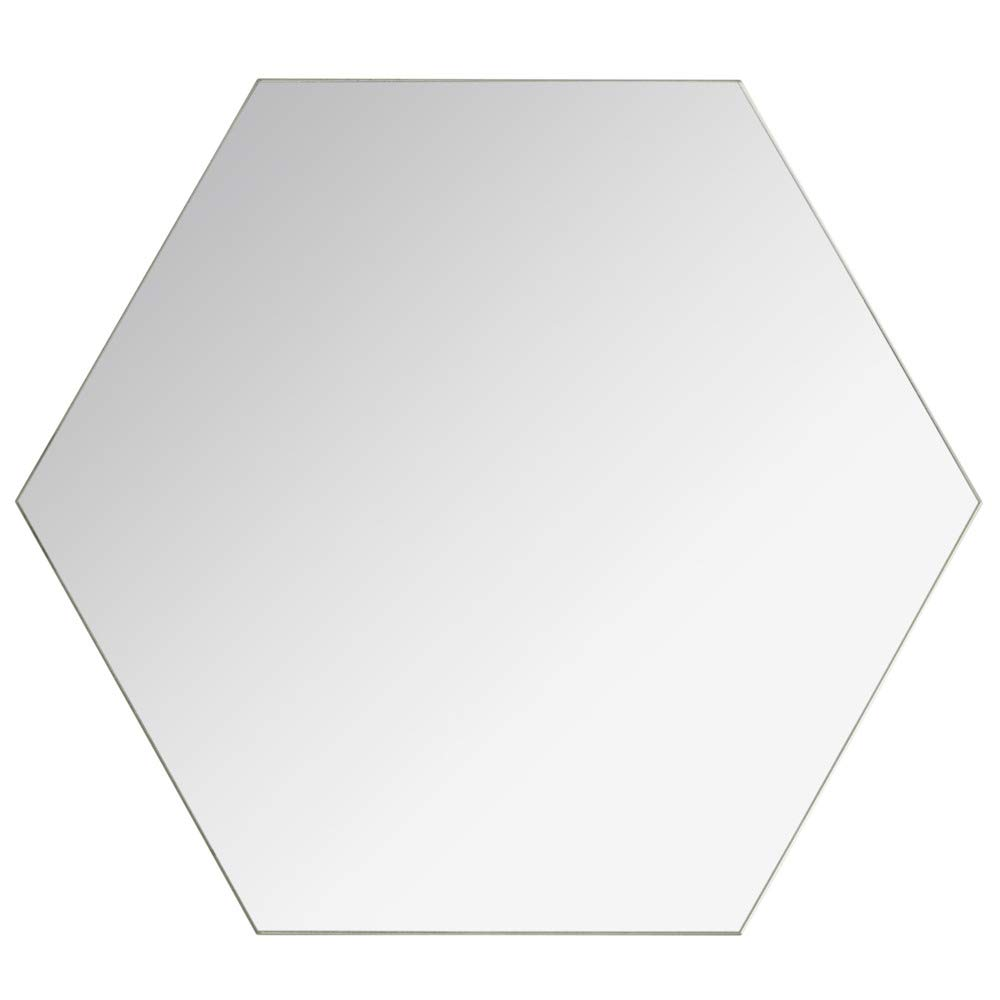 AC-D/éco Lot DE 4 Grands miroirs Adh/ésifs hexagonaux Verre