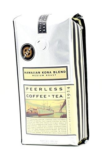 10oz Hawaiian Kona Blend, Medium Roast, Ground Coffee by Peerless Coffee & Tea, Pack of 1