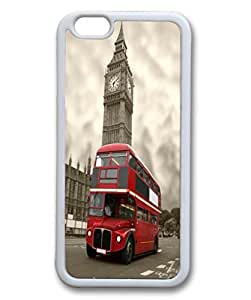 Customized Classic British London Red Telephone Box And Big Ben iphone 6 5.5 TPU Rubber (Laser Technology) Case, Cell Phone Cover by ruishername