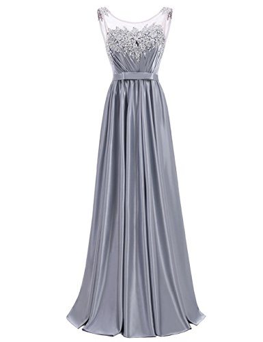 für Hochzeit Ballkleid Schwarz Elegant Abendkleider Lang Damen LuckyShe Fwq644