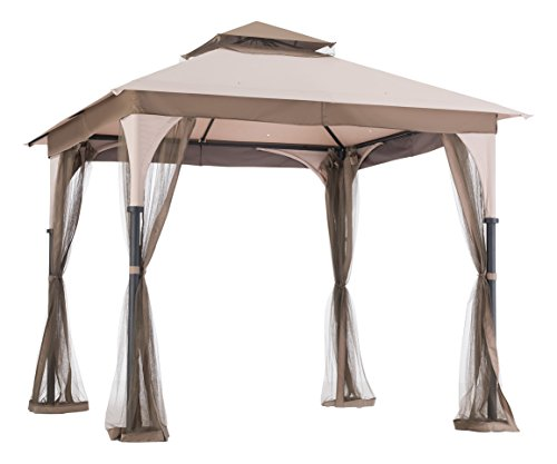 Cheap  sunjoy 8′ x 8′ Marcel Soft top Gazebo with Netting