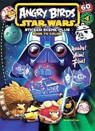 Download Angry Birds Star Wars Sticker Scene Plus Book to Color, Ready, Aim, & Fire (60 Stickers & 4 Schenes PDF