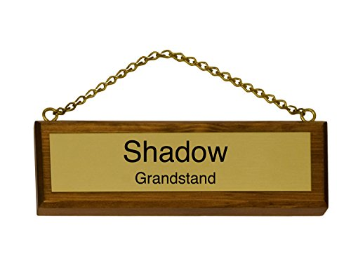 Customized Solid Wood and Brass Stall Plate