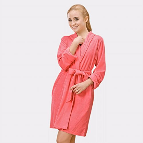 ZLR Primavera Autunno Stagione Lady Sottile Sezione Accappatoio Short Section a maniche lunghe Sleep Robe Home Clothes Accappatoio ( dimensioni : A-M )