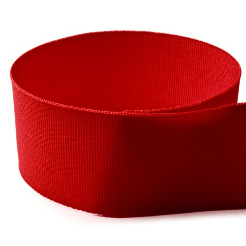 """UPC 729509717898, USA Made 2-1/4"""" Red Solid Grosgrain Ribbon - 50 Yards - (Multiple Widths & Yardages Available)"""