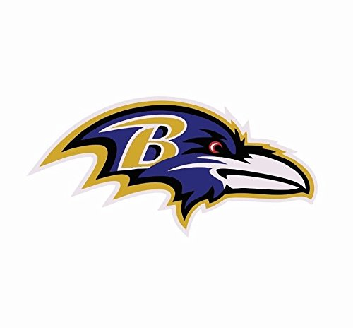 Crazy Discount Vinyl Sticker Decal Baltimore Ravens NFL for Windows Car Cell Phone Bumpers Laptop Wal, 3