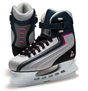 Softec by Jackson ST5000 Sport Women's Leisure Skate with Thinsulate Lining and Hockey Blade (Navy/Platinum, 4)