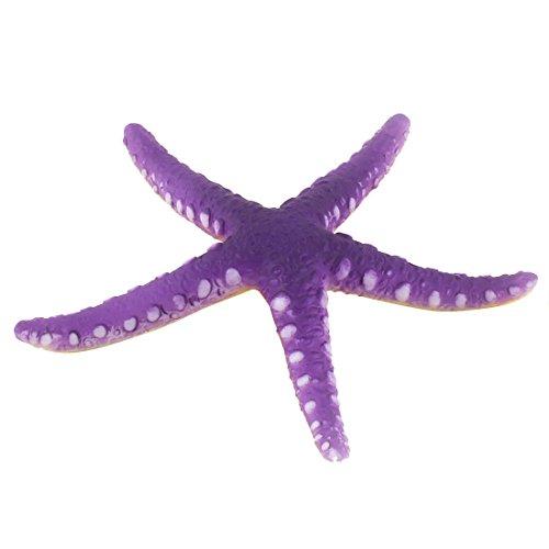 uxcell Rubber Aquarium Fish Tank Emulational Starfish Landscaping Decoration Purple