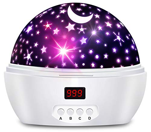 Night Lights for Kids and Baby with Timer, Star Projector Night Light for Boys and Girls, Projection Lamp for Bedroom
