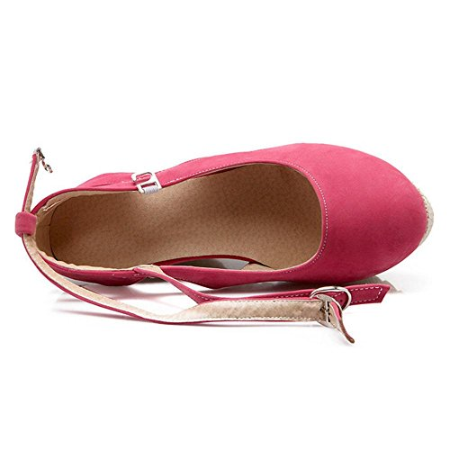 Moda Scarpe Tacco Pink Zeppa Taoffen 6296 Donna Con nzqx15Cw8a