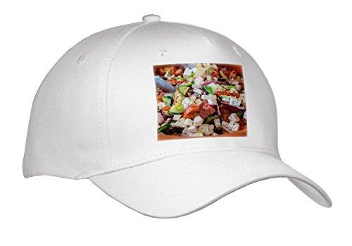 3dRose Danita Delimont - Food - Greek Salad, Tourist Club, Olympia, Greece, Europe - Caps - Adult Baseball Cap (Cap_277445_1)