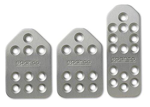 Sparco Pedal Set Piuma Shrt Silver (spa037879BT01)