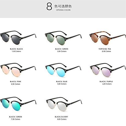 9eb5a7737c 50% de descuento JULI Gafas de sol Polarizadas Hombre Mujer Marco Semi sin  montura Marca