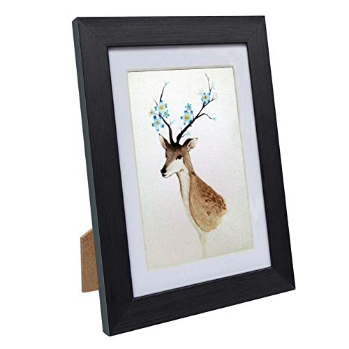 Showlovein 5x7 Picture Frames Solid Wood High Definition Glass for Tabletop or Wall Rustic Photo Frame-Mounting Hardware Included