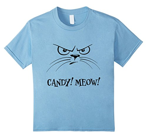 [Kids CANDY! MEOW! Mad Kitty Halloween Costume T-Shirt for Kids 4 Baby Blue] (Mean Girls Costume Group)