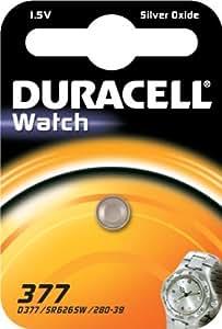 Duracell 377 batería no-recargable - Pilas (De óxido de plata, Button/coin, 1,5V, 7 mm, 7 mm, 3 mm) Acero inoxidable