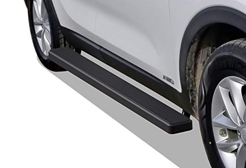 APS iBoard Running Boards (Nerf Bars | Side Steps | Step Bars) for 2016-2019 KIA Sorento Sport Utility 4-Door | (Black Powder Coated 5 inches)