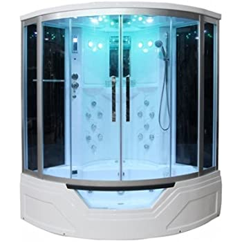 Charming Eagle Bath WS 703 110v ETL Certified Steam Shower Enclosure (3KW Generator)  With