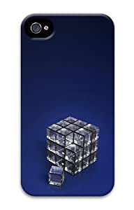 Glass Cube PC Case for iphone 4S/4 by Maris's Diary