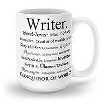 Society6 Writer Mug 15 oz