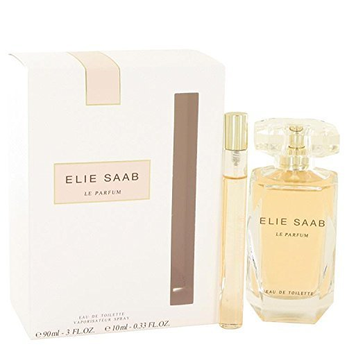 Le Parfum Elie Saab by Elie Saab Gift Set - 3 oz Eau De Toilette Spray + .33 oz Mini EDT Spray for Women