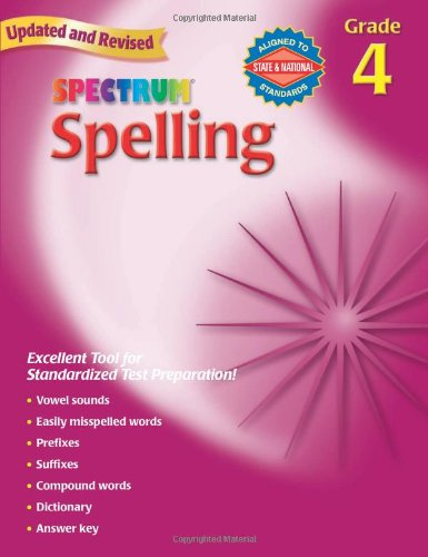 Amazon.com: Spectrum Spelling, Grade 4 (0087577929644): School ...