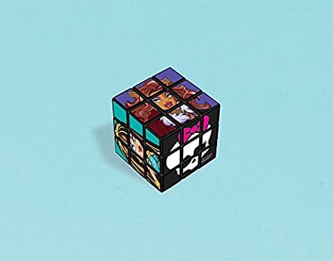 Freaky Fab Monster High Birthday Party Rubix Picture Puzzle Cube Toy Favour (1 Piece), Multi Color, 1 1/8