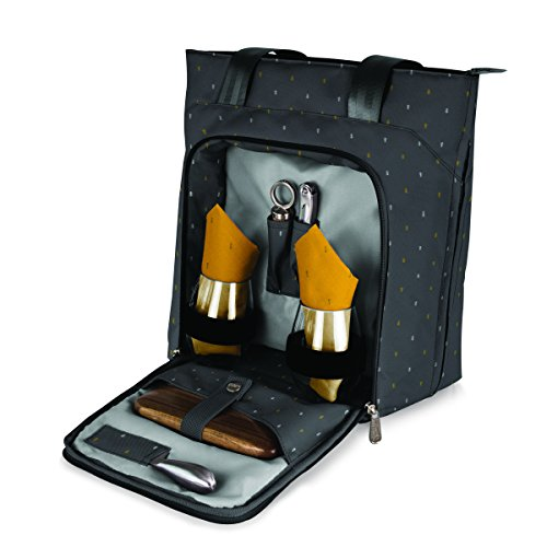 LEGACY - a Picnic Time Brand Sonoma Insulated Tote with Wine and Cheese Service for Two, Anthology Collection