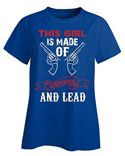 Akg Powder (This Girl Is Made Of Gunpowder - Ladies T-shirt Ladies M Royal)