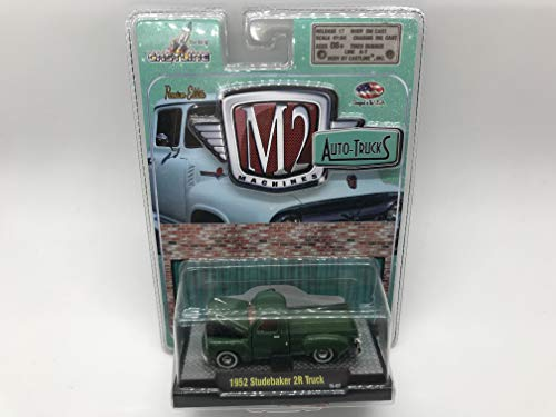 (M2 Machines Auto-Trucks 1952 Studbaker 2R Truck 1/64 11-07 Green Details Like NO Other! Over 42 Parts)