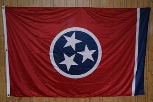 (ALBATROS 5x8 Embroidered Sewn State of Tennessee 600D Nylon Flag 5inx8in for Home and Parades, Official Party, All Weather Indoors Outdoors)