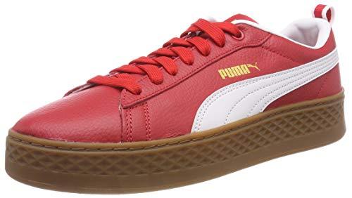 Ribbon puma White Puma Low Red Sneakers Top Women's Smash Platform Vt AqwU40z