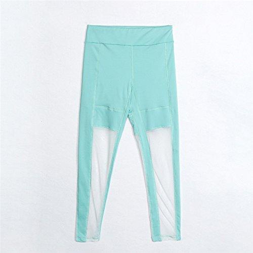 Xuanytp Pantalones de Yoga Pantalones Leggings De Malla ...