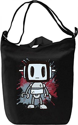 Splash Robot Borsa Giornaliera Canvas Canvas Day Bag| 100% Premium Cotton Canvas| DTG Printing|