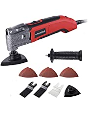 MANUSAGE 2.5Amp Oscillating Tool,Variable Speed Oscillating Multi Tool Kit with 3.5°Oscillation Angle,Quick Blade Change System and 13pcs Accessories for Cutting,Sanding and Grinding