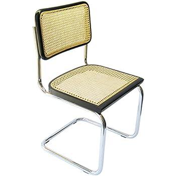 AmazoncomMarcel Breuer Cesca Cane Chrome Arm Chair in Honey
