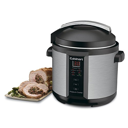 Cuisinart CPC-600 1000-Watt 6-Quart Electric Pressure Cooker, Brushed Stainless and Matte Black (Certified Refurbished) For Sale