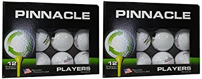 Pinnacle A Grade Recycled Golf Balls in Excellent Condition - 2/12 Pack Boxes