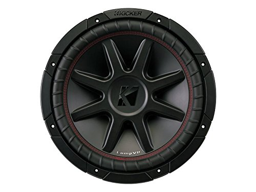 Kicker 12'' 800 Watt CompVR 4 Ohm DVC Sub Woofer Car Power Subwoofer | 43CVR124 by KICKER
