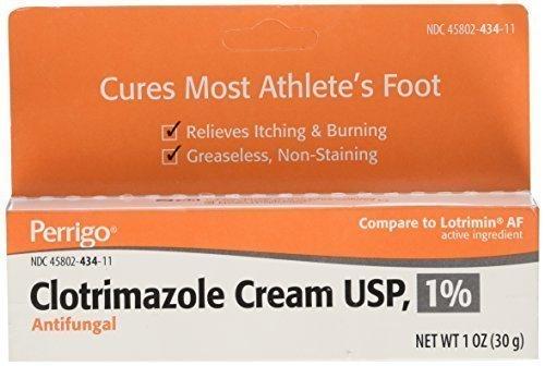 Clotrimazole Anti-Fungal Cream USP 1% by Generic Lotrimin - 1 Oz - Pack of 2 by PERRIGO PHARMACEUTICALS (1% Generic Cream)