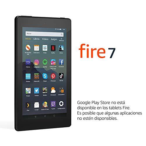 """Tablet Fire 7, pantalla de 7"""", 16 GB (Negro) – Con publicidad"""