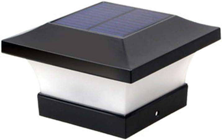 AWISAWIS Exterior Luz de Farola LED Solar, Impermeable Lámpara de Jardín de PC y ABS Faros de Columna Moderna Lámpara Exterior Poste Negro para Paisaje Terraza Escalera,White Light: Amazon.es: Hogar